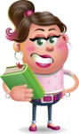 Cute Casual Girl Vector 3D Cartoon Character AKA Molly Chic - Book 3