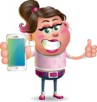 Cute Casual Girl Vector 3D Cartoon Character AKA Molly Chic - iPhone