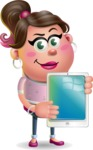 Cute Casual Girl Vector 3D Cartoon Character AKA Molly Chic - iPad 1