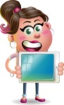 Cute Casual Girl Vector 3D Cartoon Character AKA Molly Chic - iPad 2