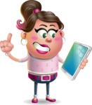 Cute Casual Girl Vector 3D Cartoon Character AKA Molly Chic - iPad 3