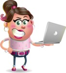 Cute Casual Girl Vector 3D Cartoon Character AKA Molly Chic - Laptop 1