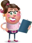 Cute Casual Girl Vector 3D Cartoon Character AKA Molly Chic - Notepad 2