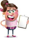 Cute Casual Girl Vector 3D Cartoon Character AKA Molly Chic - Notepad 4