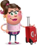 Cute Casual Girl Vector 3D Cartoon Character AKA Molly Chic - Travel 1