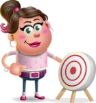 Cute Casual Girl Vector 3D Cartoon Character AKA Molly Chic - Target