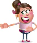 Cute Casual Girl Vector 3D Cartoon Character AKA Molly Chic - Show 2