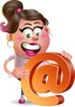 Cute Casual Girl Vector 3D Cartoon Character AKA Molly Chic - Email