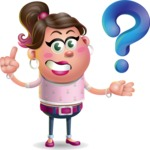 Cute Casual Girl Vector 3D Cartoon Character AKA Molly Chic - Question