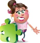 Cute Casual Girl Vector 3D Cartoon Character AKA Molly Chic - Puzzle