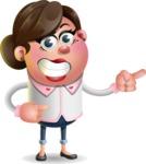 Vector 3D Office Woman Cartoon Character AKA Deona Smarts - Point 2