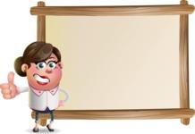 Vector 3D Office Woman Cartoon Character AKA Deona Smarts - Presentation 5