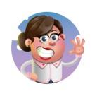 Vector 3D Office Woman Cartoon Character AKA Deona Smarts - Shape 1