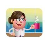 Vector 3D Office Woman Cartoon Character AKA Deona Smarts - Shape 2