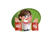 Vector 3D Office Woman Cartoon Character AKA Deona Smarts - Shape 4