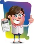 Vector 3D Office Woman Cartoon Character AKA Deona Smarts - Shape 5