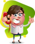 Vector 3D Office Woman Cartoon Character AKA Deona Smarts - Shape 7