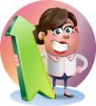 Vector 3D Office Woman Cartoon Character AKA Deona Smarts - Shape 8