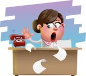 Vector 3D Office Woman Cartoon Character AKA Deona Smarts - Shape 9