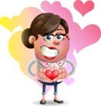 Vector 3D Office Woman Cartoon Character AKA Deona Smarts - Shape 10