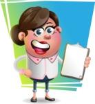 Vector 3D Office Woman Cartoon Character AKA Deona Smarts - Shape 11