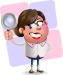Vector 3D Office Woman Cartoon Character AKA Deona Smarts - Shape 12