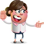 Vector 3D Office Woman Cartoon Character AKA Deona Smarts - Direct Attention 2