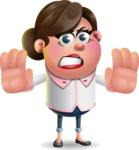 Vector 3D Office Woman Cartoon Character AKA Deona Smarts - Stop