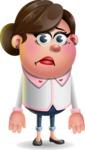 Vector 3D Office Woman Cartoon Character AKA Deona Smarts - Sad