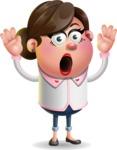 Vector 3D Office Woman Cartoon Character AKA Deona Smarts - Shocked
