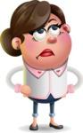 Vector 3D Office Woman Cartoon Character AKA Deona Smarts - Roll Eyes