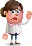 Vector 3D Office Woman Cartoon Character AKA Deona Smarts - Goodbye