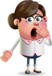 Vector 3D Office Woman Cartoon Character AKA Deona Smarts - Oops