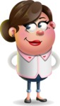 Vector 3D Office Woman Cartoon Character AKA Deona Smarts - Patient