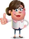 Vector 3D Office Woman Cartoon Character AKA Deona Smarts - Thumbs Up