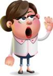Vector 3D Office Woman Cartoon Character AKA Deona Smarts - Bored 2