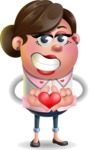 Vector 3D Office Woman Cartoon Character AKA Deona Smarts - Show Love