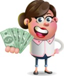 Vector 3D Office Woman Cartoon Character AKA Deona Smarts - Show me  the Money
