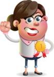 Vector 3D Office Woman Cartoon Character AKA Deona Smarts - Ribbon