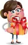 Vector 3D Office Woman Cartoon Character AKA Deona Smarts - Gift