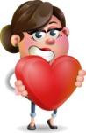 Vector 3D Office Woman Cartoon Character AKA Deona Smarts - Love