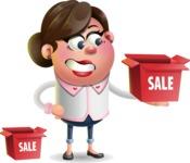 Vector 3D Office Woman Cartoon Character AKA Deona Smarts - Sale