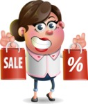 Vector 3D Office Woman Cartoon Character AKA Deona Smarts - Sale 2