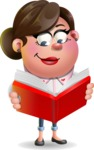 Vector 3D Office Woman Cartoon Character AKA Deona Smarts - Book 1