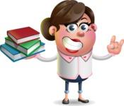 Vector 3D Office Woman Cartoon Character AKA Deona Smarts - Book 2