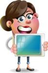 Vector 3D Office Woman Cartoon Character AKA Deona Smarts - iPad 2