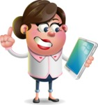 Vector 3D Office Woman Cartoon Character AKA Deona Smarts - iPad 3