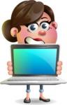 Vector 3D Office Woman Cartoon Character AKA Deona Smarts - Laptop 2