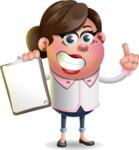 Vector 3D Office Woman Cartoon Character AKA Deona Smarts - Notepad 1