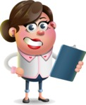 Vector 3D Office Woman Cartoon Character AKA Deona Smarts - Notepad 2